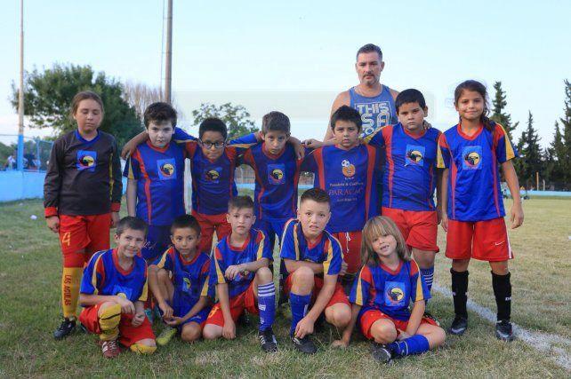 La escuelita de fútbol Las Águilas dice presente con su categoría 2008. Foto <b>UNO </b>Diego Arias