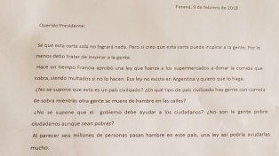 El entrerriano que le escribió a Macri para ayudar a los pobres