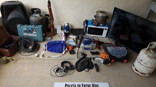 Recuperado. Todo lo robado estaba en la casa de un vecino de la víctima.