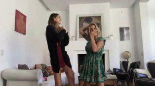 Suegra copada: Florencia Peña publicó un video viral bailando con Juanita Tinelli y su hijo Toto