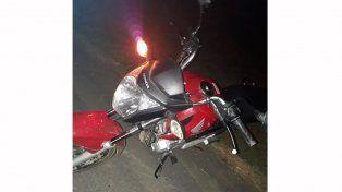 Terminaron hospitalizados tras derrapar con la moto