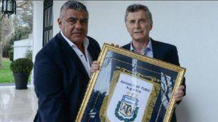 Macri se reunió con Chiqui Tapia en Casa Rosada