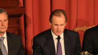 El gobernador Bordet junto al vice Adan Bahl.Foto Uno: Diego Arias
