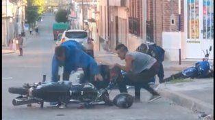 Fueron detenidos los motociclistas victorienses que agredieron a policías