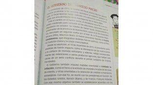 Critican manual para escuelas bonaerenses con propaganda macrista