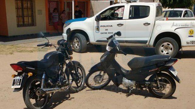 Investigación. las dos motos no tenían daños importantes