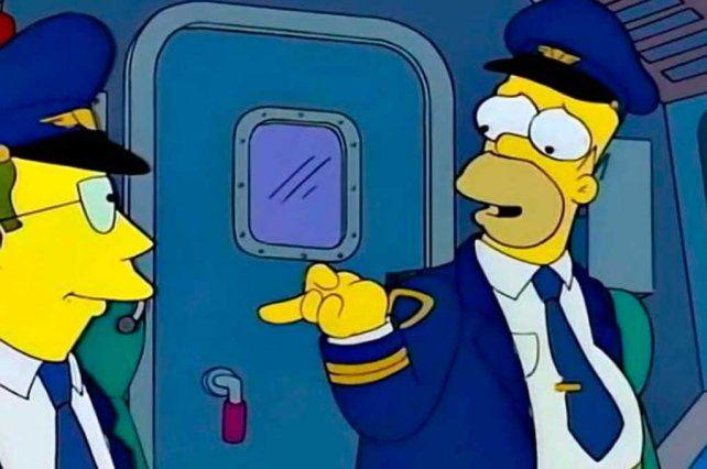 Video: Homero Simpson sorprendió a los pasajeros de Aerolíneas Argentinas