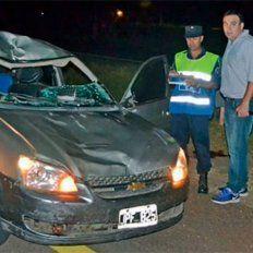 Murió atropellado cuando intentaba cruzar caminando la autovía 14