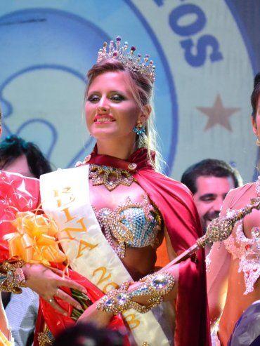 La nueva reina de Gualeguaychú. Foto prensa Carnaval.