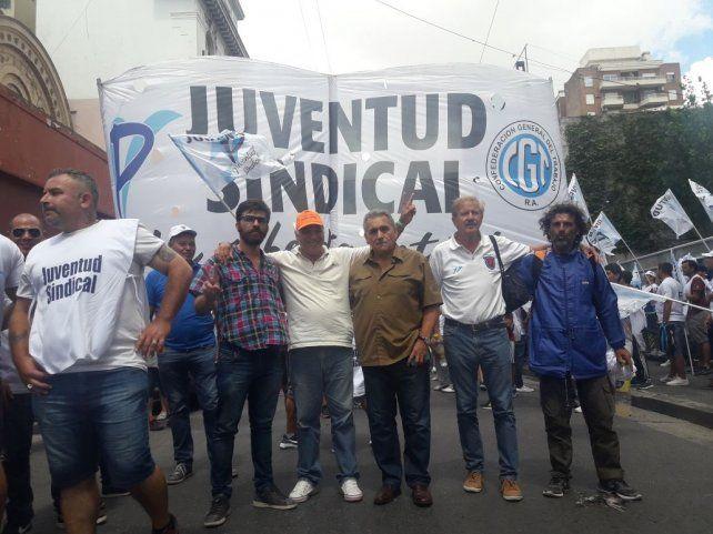Presencia. El triunviro de la CGT Paraná