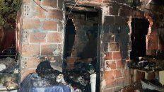 parana: una precaria vivienda ardio en llamas al explotar una garrafa