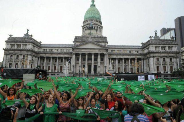 Aborto: Dividirán la Plaza del Congreso para evitar enfrentamientos