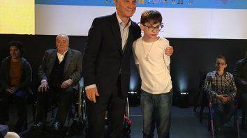 Santino ya tuvo la oportunidad de conocer a Macri en 2017.