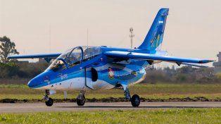 Un copiloto se eyectó de un avión militar cerca de Río Tercero y resultó herido