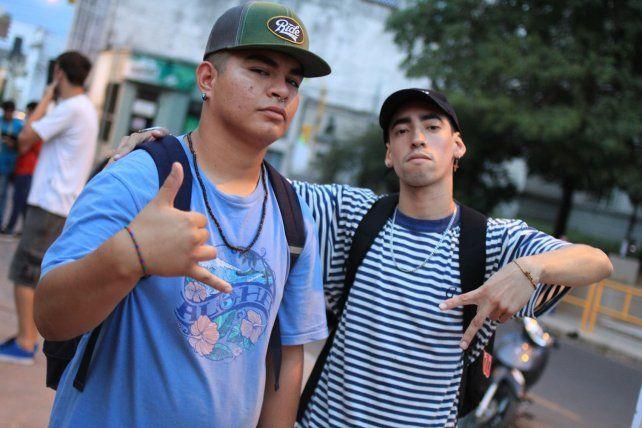 Esteban RL y BNSP antes de actura. Foto<b> UNO</b> Juan Ignacio Pereira.