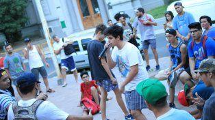 Jóvenes y hip hop es una conexión perfecta. FotoUNOJuan Ignacio Pereira.