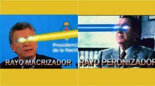 #RayoPeronizador vs. #RayoMacrizador: la insólita guerra de memes que estalló en las redes sociales