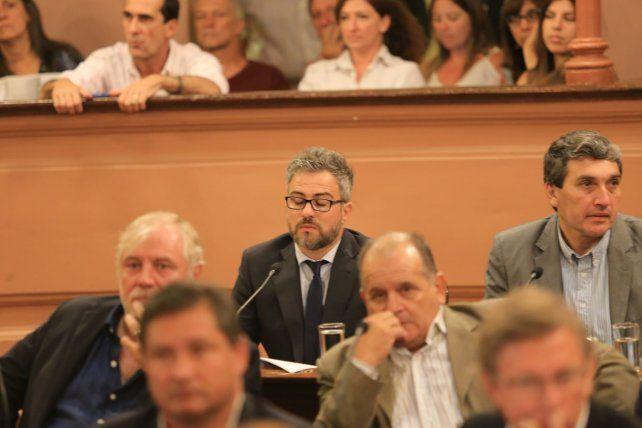Gustavo Guzmán en la cámara de Diputados. Foto UNO Diego Arias.