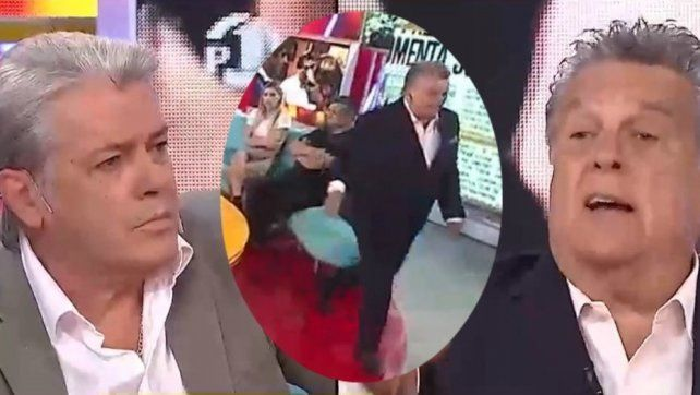 Escandalosa pelea entre Luis Ventura y Silvestre en vivo