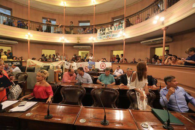Los diputados del PJ participaron de la reunión.FotoUNODiego Arias.