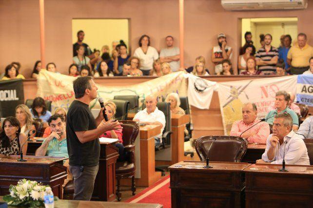 La disertación fue seguida en un tenso silencio.  Foto <b>UNO</b> Diego Arias.