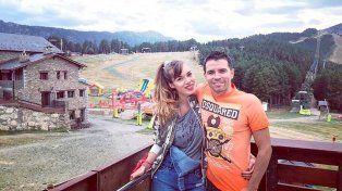 Javier Saviola y Romanela Amato en Andorra.