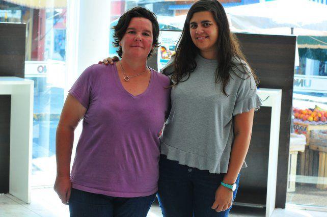 Organizadoras. Rocío Lanfranco y María Mercado