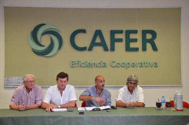Las integrantes de la Mesa de Enlace en conferencia de prensa brindada en Paraná.