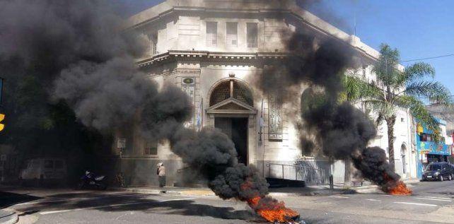 Las protestas en Concordia. Foto Diario del SUR Digital