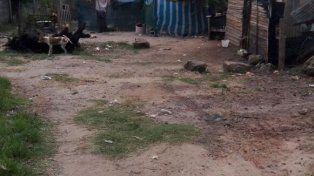 La foto del barrio en donde murió Mirko.