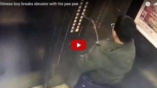 Hizo pis en el ascensor pero no imaginó las consecuencias