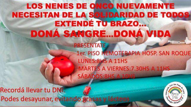 Piden dadores de sangre para niños con cáncer