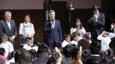 Clases. El año pasado el Presidente criticó los paros al inaugurar el ciclo lectivo en la provincia de Jujuy.