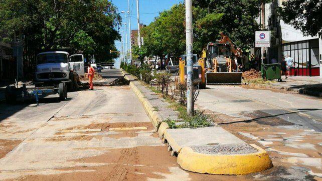 Continúan con los trabajos en una de las principales arterías de Paraná. Foto Municipalidad de Paraná.