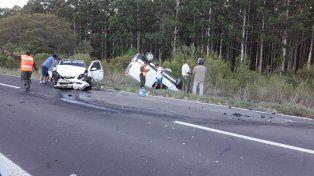 Se accidentó un piloto entrerriano en Paso Telégrafo