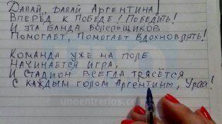 Hinchada quilombera. Zajarova tradujo canciones de la cancha.