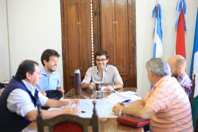 Funcionarios nacionales se reunieron con el intendente de La Paz.