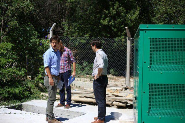 Los funcionarios recorrieron las obras que están realizando en La Paz.