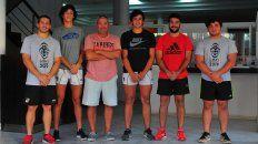 Detalles. El dirigente y los jugadores del Albinegro estuvieron ayer en UNO y contaron cómo se trabajará durante este año para llegar a la Gira 2019.