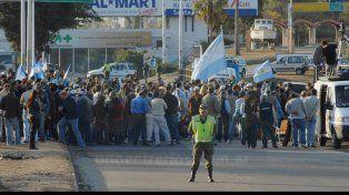 corte. Los ruralistas recurrieron al piquete como metodología: en la imagen la protesta del túnel subfluvial.