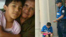 La foto de Facundo y su abuela en Tucumán contrasta con la del niño y el policía en Paraná.