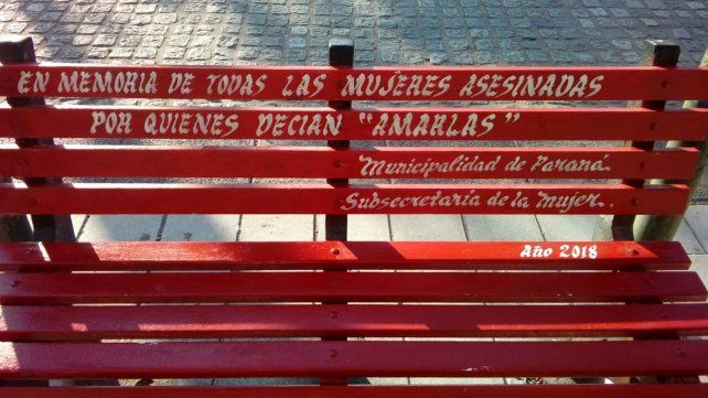 Paraná tendrá su Banco Rojo para sensibilizar sobre los feminicidios