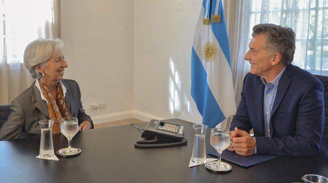 Macri recibió a Lagarde: elogios al pacto fiscal y al gradualismo