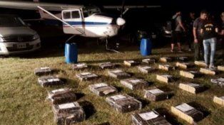 Narcoaviones. Por mes, la organización recibía y distribuía unas cuatro toneladas de cocaína.