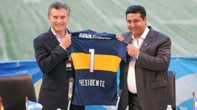 El hincha número uno. Macri fue presidente de Boca y es fanático del club de la Ribera.