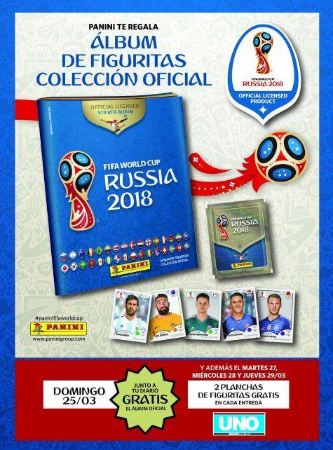El álbum del Mundial, gratis junto a Diario UNO
