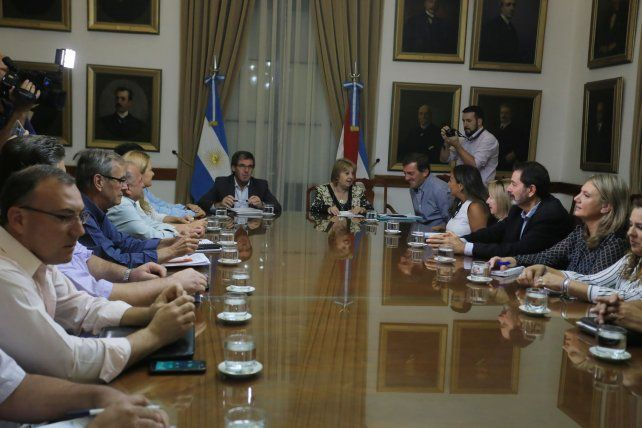 Esta tarde se dio un nuevo encuentro de las partes en Casa de Gobierno.