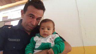 Habló el policía que le salvó la vida a una bebé en Villa Urquiza