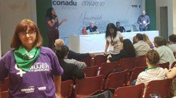a secretaria general de la Asociación Gremial de Docentes Universitarios (AGDU), Patricia Riobó, participó del cónclave, realizado en Buenos Aires.