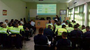 Legislación. Los uniformados recibieron información sobre las normativas vigentes.